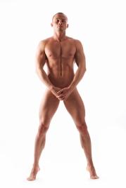 Muscular nude male torso